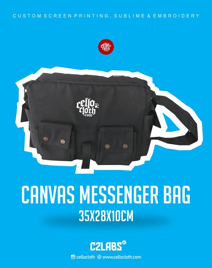 Canvas Messenger Bag - Konveksi Tas Jogja