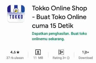 web toko online di tokko