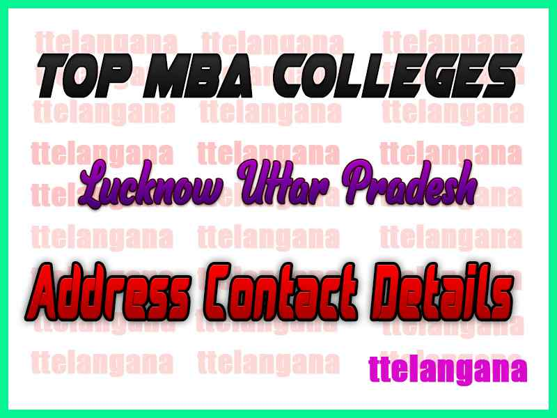 Top MBA Colleges in Lucknow Uttar Pradesh