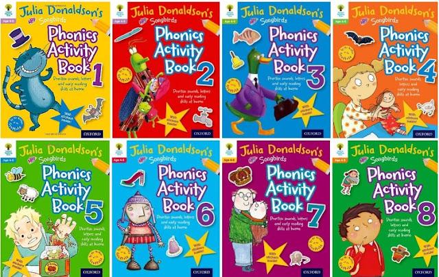 Phonics Activity Books 1-8 by Julia Donaldson