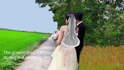 The groom died
