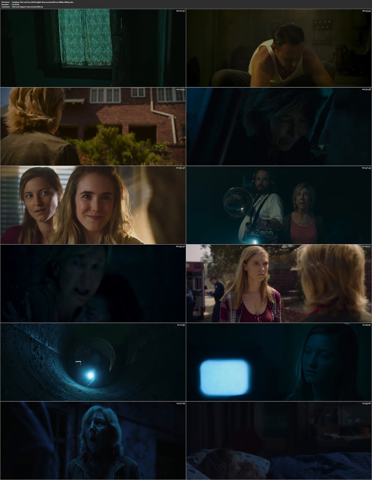 Insidious The Last Key 2018 Hollywood 300MB BluRay 480p ESubs at movies500.info