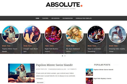 Absolute Responsive Blogger Templates 2020