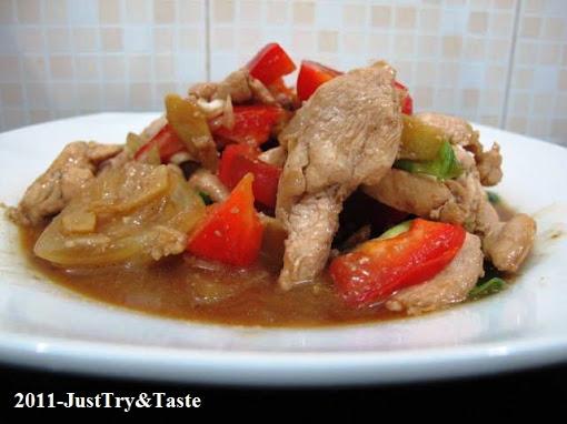 Resep Tumis Ayam, Bawang Bombay, dan Paprika
