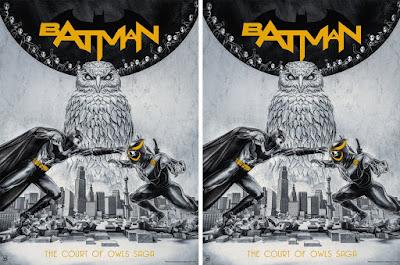 "Batman ""The Court of Owls"" Screen Print by Chris Skinner x Bottleneck Gallery x DC Comics"