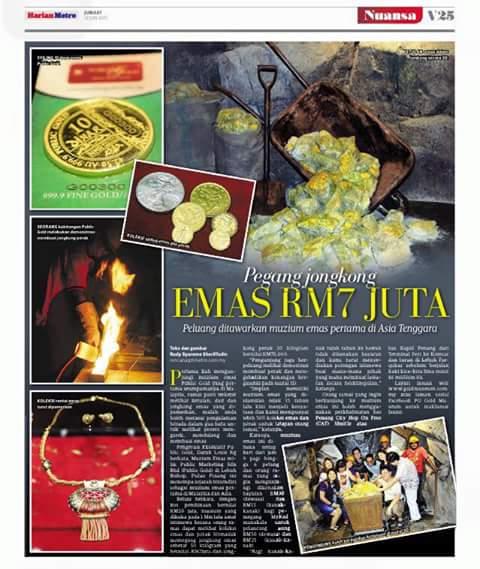 Public Gold membuka muzium emas pertama di Malaysia.