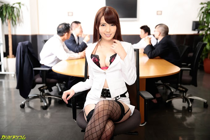 Yui Hatano sucks and rides dicks and facesits her colleague