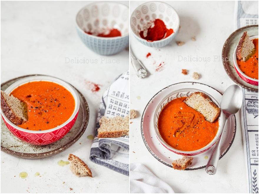 Krem pomidorowy z wędzoną papryką