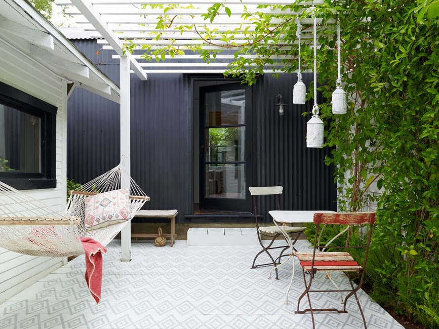 House painted black