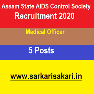 Assam State AIDS Control Society Recruitment 2020- Apply For Medical Officer Post