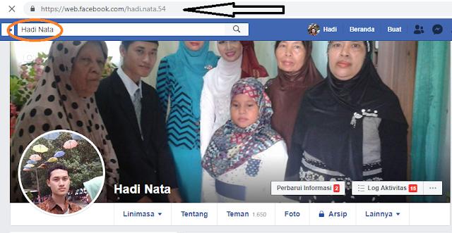 profil facebook hadinata siddiq (admin bacanulis.com)