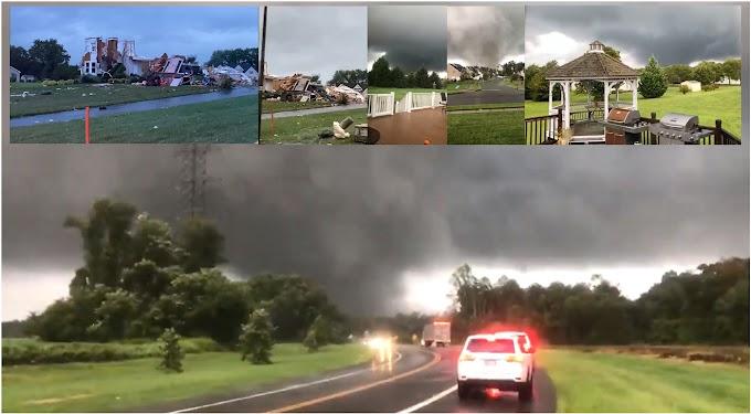 VIDEO: Monstruosos tornados en cadena arrasan en áreas de Nueva Jersey y tocan tierra en partes de Nueva York