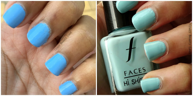 Favorite Summer Pastel Nail Polish Colors Recommendations Bourjois Adora Bleu Faces Frosty Ice Blue