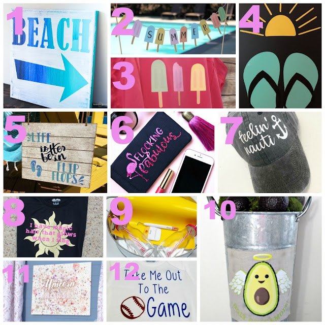 Get inspired with these 12 Summer themed projects using your Cricut!