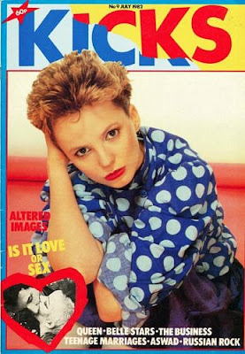 Clare Grogan wearing polka dots in 1982