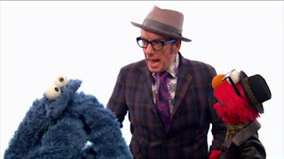 Elvis Costello and elmo sing A Monster Went and Ate My Red Two. Sesame Street The Best of Elmo 3
