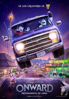 ONWARD - Poster de la película de Disney y Pixar