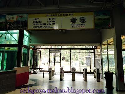 pintu masuk dan senarai harga tiket