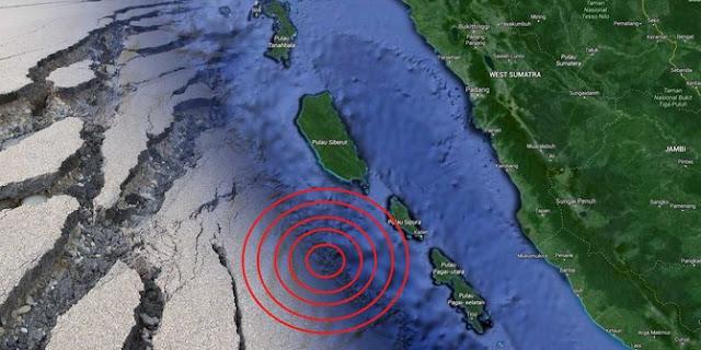 Hari Ini, Mentawai Diguncang Gempa Bumi 4 SR Sebanyak 8 Kali