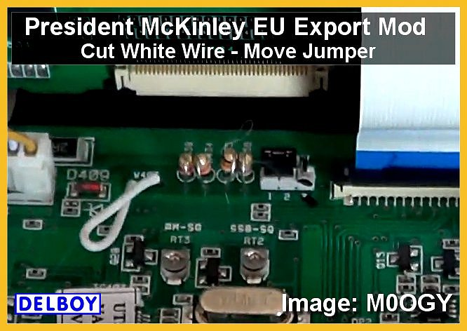 Delboy's Radio Blog: President McKinley EU EXPORT MOD