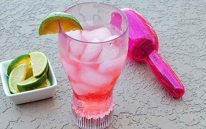 this is a summer drink with watermelon and lime