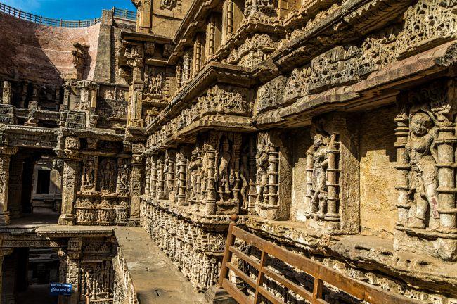 Beautiful sculptures on the sidewalls of the Rani Ka Vav