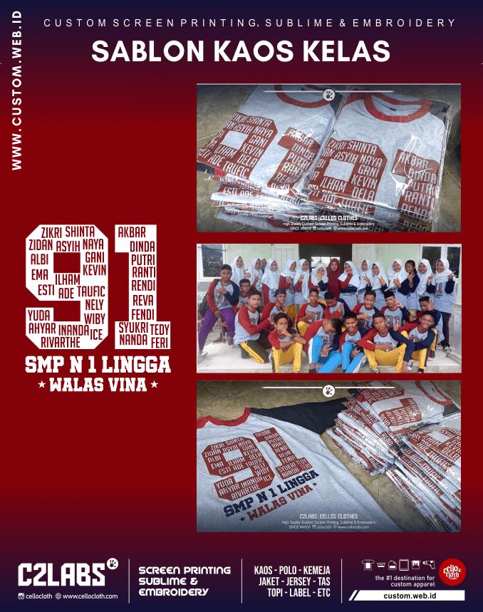 SMP N 1 Lingga Walas Vina - Sablon Kaos Kelas Online