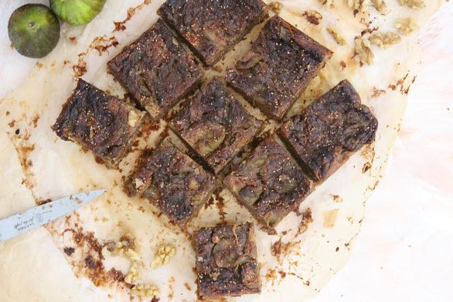 Carrés biscuités figues et noix (vegan)
