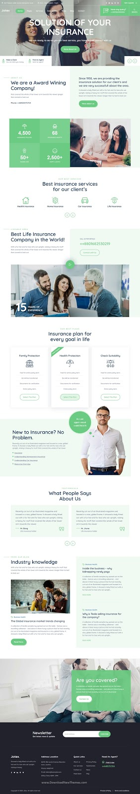 Premium Insurance WordPress Theme