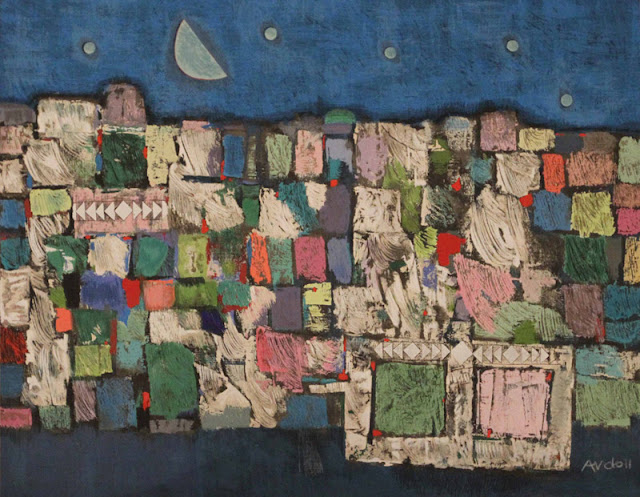 Mordecai Ardon - Mystery Landscape Painting