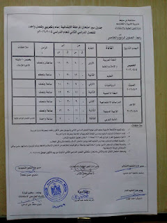 جدوال امتحانات اخر العام 2016 محافظة بنى سويف بعد التعديل 13012661_10204867234641097_1370932387561006588_n