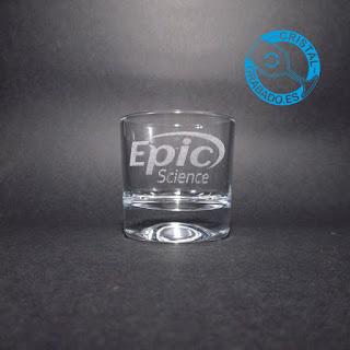 Vaso de chupito grabado con logotipo empresa