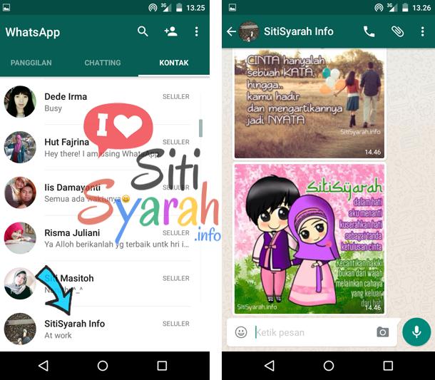 cara membuat kontak whatsapp