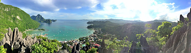 Panorama view of Taraw Cliff