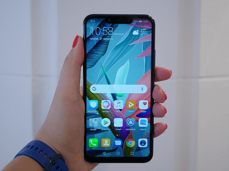 This is the Mate 20 Lite in front