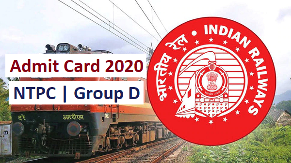 Admit Card 2020 for RRB Guwahati