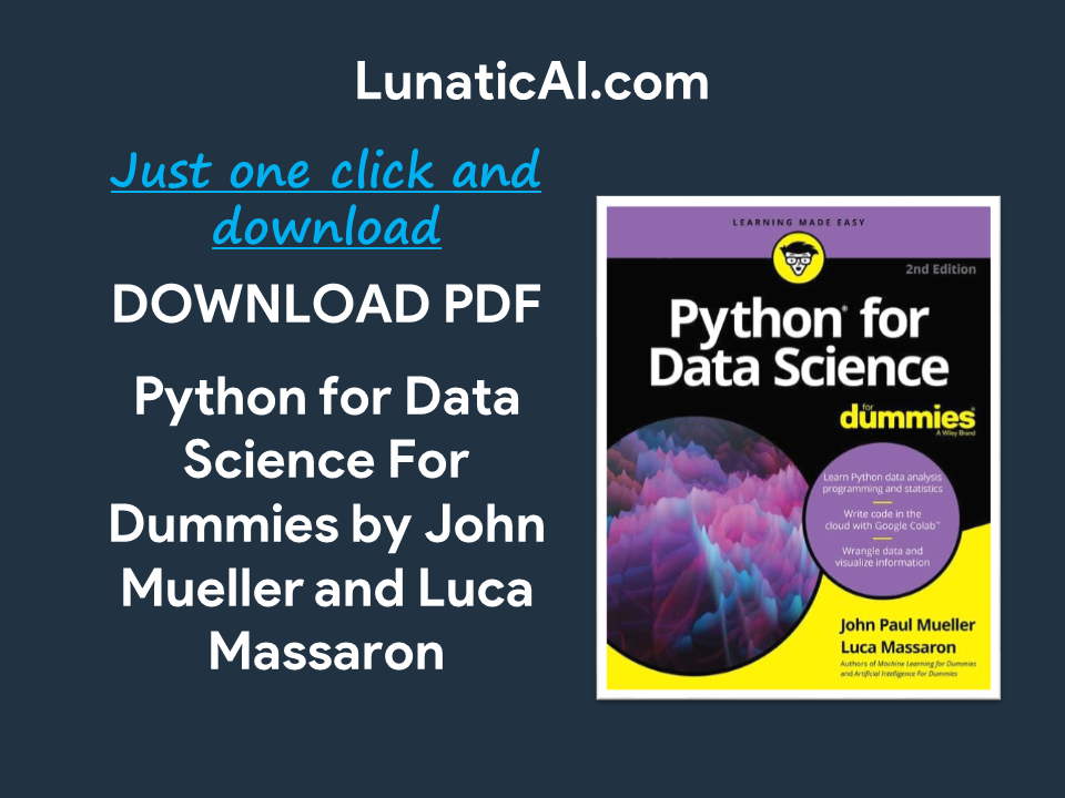 python for data science for dummies, 2nd edition pdf free download