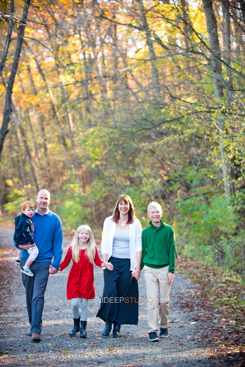 Nichols Arboretum Fall Family Portrait Photography - Sudeep Studio.com