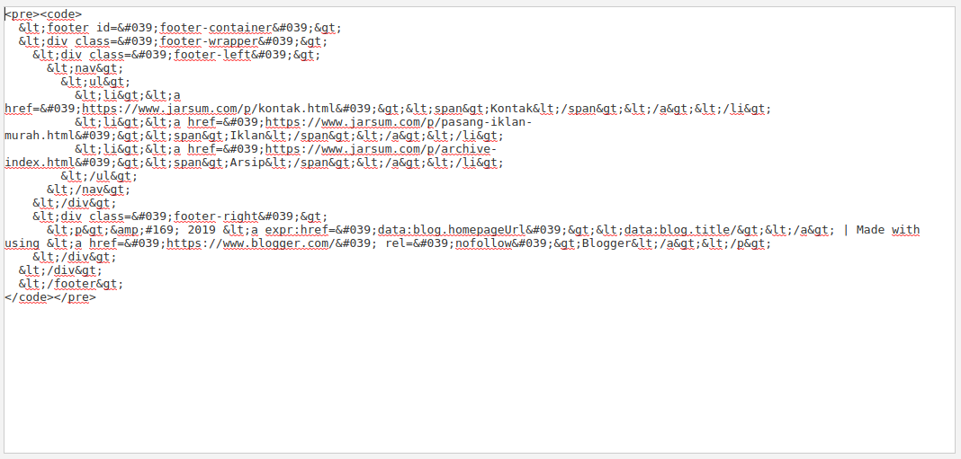 contoh tampilan membuat syntax di artikel