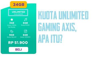 Kuota Unlimited Gaming Axis Owsem Untuk Apa Saja?