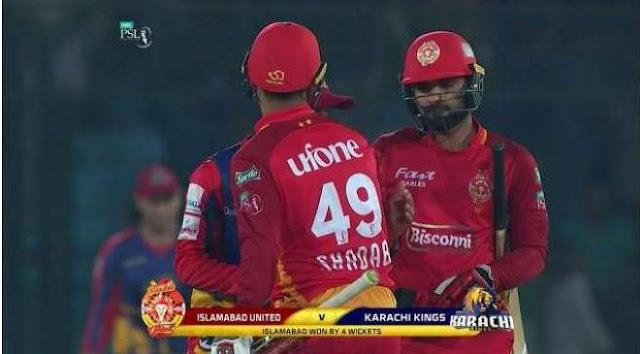 PSL 4 2019 Islamabad United beat Karachi King by 4 wickets