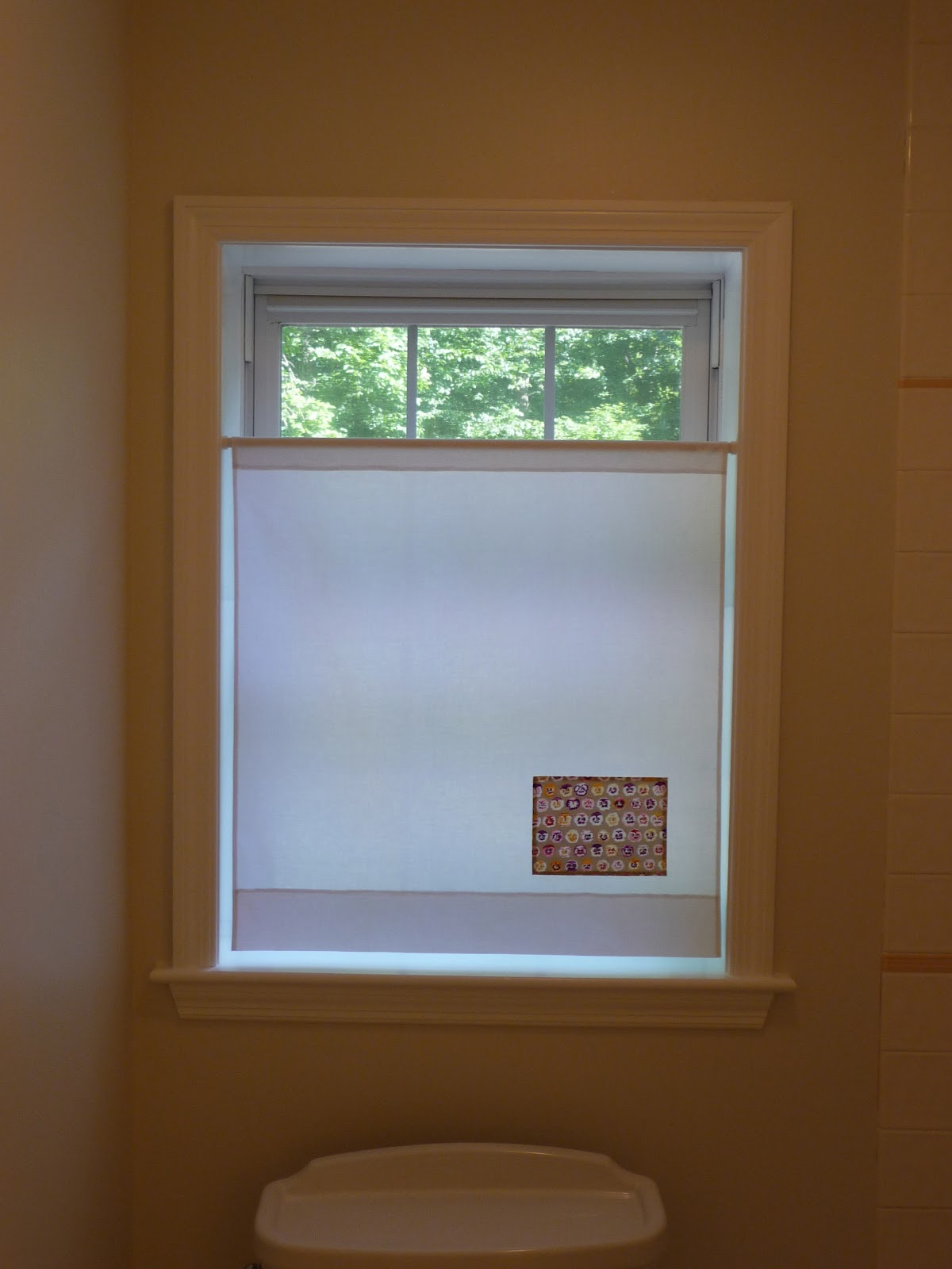 Sew And Sow Life: Simple Bathroom Window Treatment