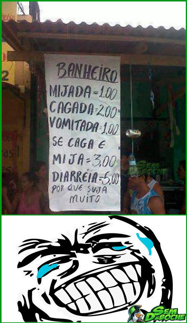 ANTES DE USAR O BANHEIRO, LEIA AS REGRAS