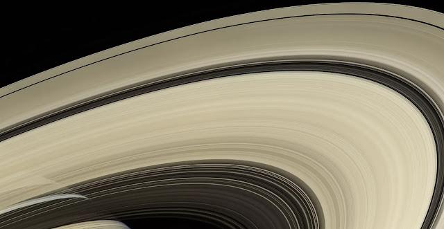Anelli di Saturno fotografati dalla sonda Cassini (NASA)