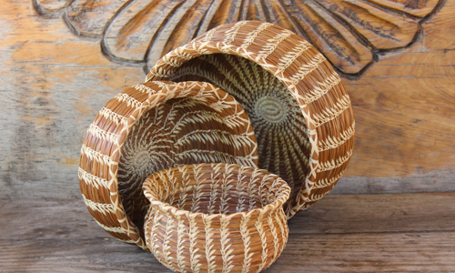 Mayan Traditions NGO Guatemala pine needle baskets