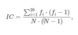 Индекс совпадения (IC)