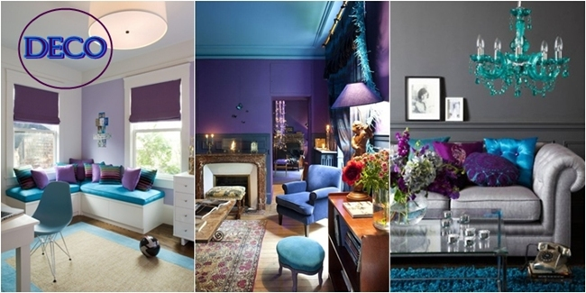 Purple and turquoise home decor ideas