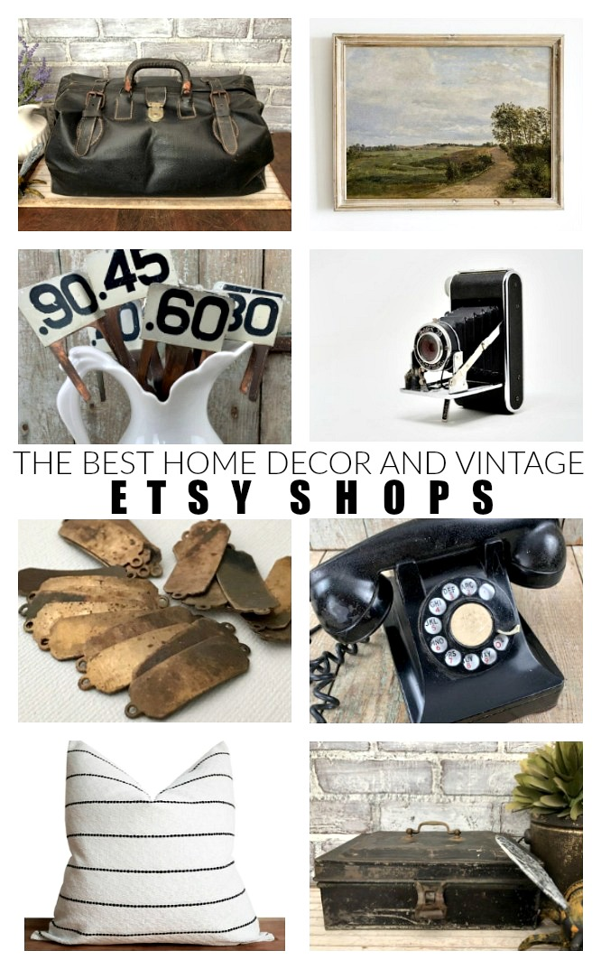 The best decor and vintage ETSY shops