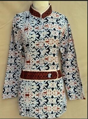 50 Model Baju Batik Kantor Wanita Gemuk Modern Terbaru 2019