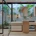 Banheiro contemporâneo com jardim de inverno e bancada diferenciada!